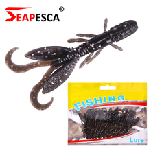 SEAPESCA 12Pcs/lot Mushy Bait Fishing Lure 55mm 1.4g Sizzling Sale Mushy Garnelen Silicone Synthetic Lobster Bait Sort out YA79