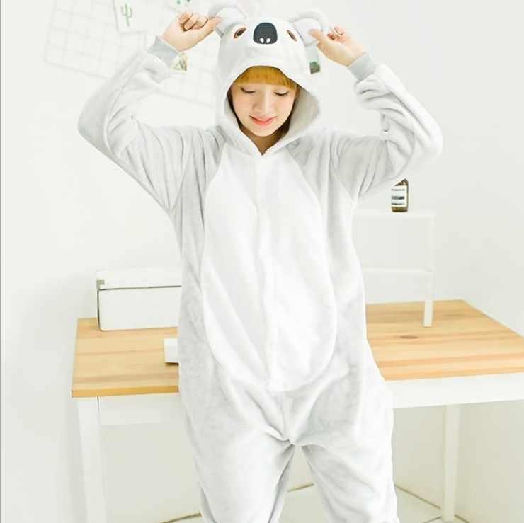 Kigurumi взрослых пижамы животных Пижама коала кигуруми косплэй костюм  пижамы для мужчин женщин 479a528244d39