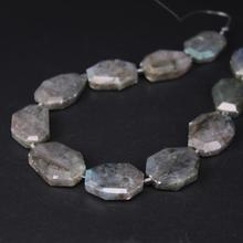 11PCS/strand Flash Labradorite Faceted Slab Nugget Loose Beads,Cut Natural Stone Gems Slice Pendant Jewelry Making 19-24x25-31mm 36 40pcs strand faceted aventurine rondelle spacer loose beads natural green gems stone cut nugget pendant beads jewelry making