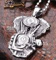 Steampunk Engine Motorcycle Biker Pendant Necklace