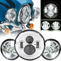 "Para Harley Davidson 7 ""LED Daymaker Faro Faro 4.5"" Pasando Las Luces Auxiliares Fit Harley Road King, Touring"