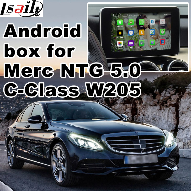 Android GPS navigation box for Mercedes benz C class W205 NTG 5 0 video interface box