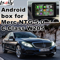 Android GPS navigation box for Mercedes benz C class W205 NTG 5.0 video interface box COMMAND Audio20 mirror link with carplay