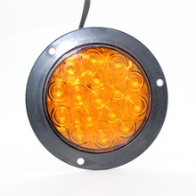 1 Pair 16 LED Car Rear Tail Lights Indicaor Lamp for 12V 24V Truck Trailer Lorry Van Red Yellow White 1 pair cob truck tail lights indicator warning lamp for 12v 24v bus trailer lorry van