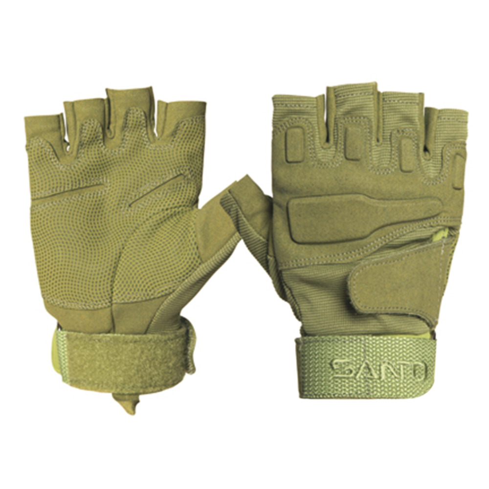 Tactical Gloves Army Bicycle Outdoor Paintball Airsoft Motorcross Shooting Fingerless Carbon Knuckle Half Finger Gloves