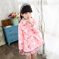 2016 girls trench coat Pure cotton children's lovely lace trench coat 120-150 Free shipping