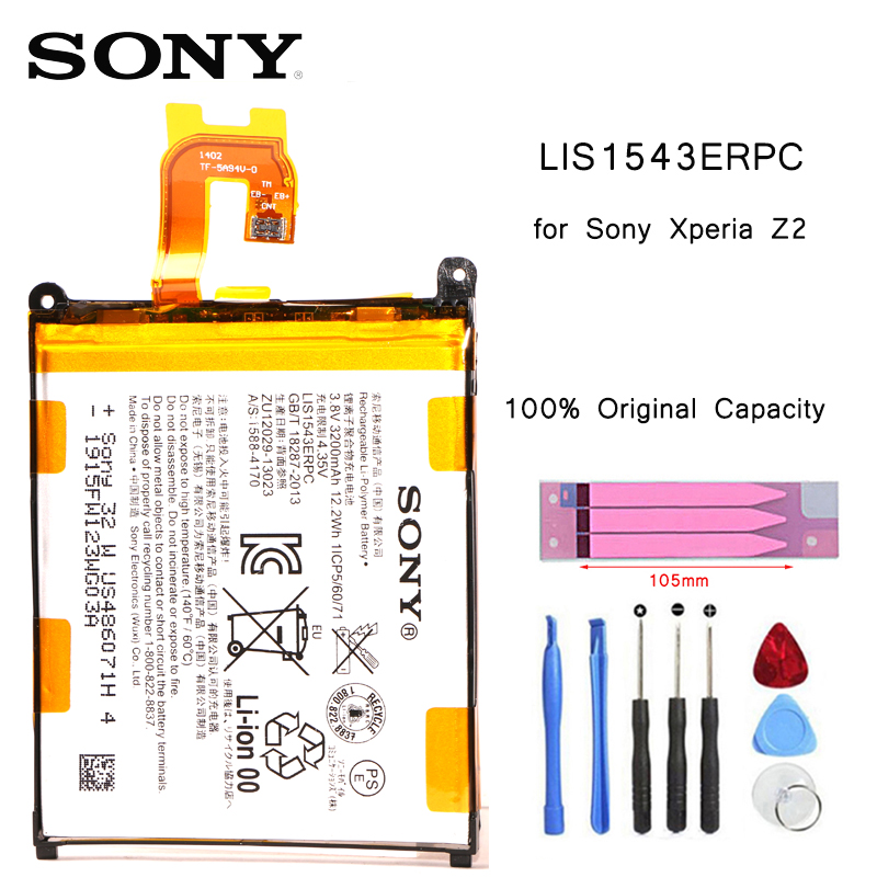 SONY Phone-Battery D6502 Replacement LIS1543ERPC Original For Xperia Z2 L50w/Sirius/So-03/..