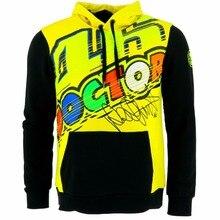 New 2017 Motorcycle Sweater Valentino Rossi VR46 The Doctor Moto GP Zip Up Hoody Hoodie yellow Men's Zip-up Hoody racing hoodie
