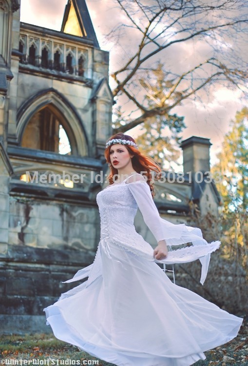 Artesia Medieval Wedding Gown Fantasy Corset Lace and Mesh Gown ...
