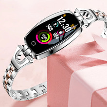 696 Women Digital Smartwatch New Luxury H8 Intelligent Wristwatch Waterproof Smart Watch Heart Reat Pedometer For iPhone Android