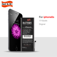 SCUD Battery For Apple iPhone 6s Real Capacity 1715mAh With Retail Package Free Repair Machine Tools
