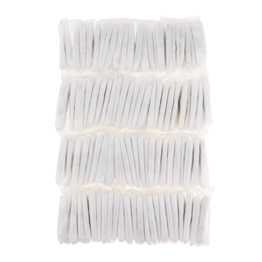 100 Pieces Women Bikini Wax Disposable Panties Thong Underwear T-string Underpants Individually Wrapped White Blue mop