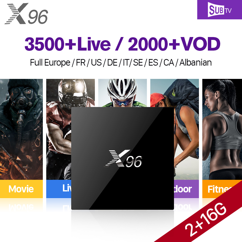X96 IPTV French Box Android 6.0 IPTV France Arabic IPTV Subscription 1 Year SUBTV Code VOD Movies TV Series France Sports Live french iptv box android tv box with 1year 1300 arabic france iptv belgium code live tv