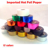 80MMX120M Roll Imported Hot Foil Paper Laminator Laminating Transfere Laser Suitable For Genuine Leather PU Leather
