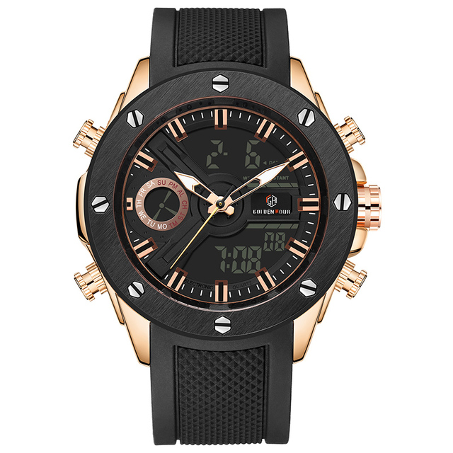 Men Watch Luxury Brand OLDENHOUR Fashion Analog Digital Sports Mens Watches Waterproof Silicone Quartz Watch Relogio Masculino 1