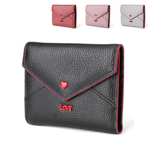 Womens Wallets and Purses Genuine Leather Short Wallet Women Fashion Luxury Solid Hasp Ladies Organizer Money Bag 2019