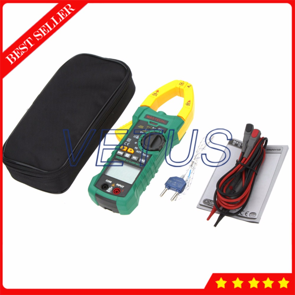 MASTECH MS2015B Auto Range 6600 Counts 1000A AC Digital Clamp Meter mastech ms8260f 4000 counts auto range megohmmeter dmm frequency capacitor w ncv