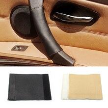 For BMW 5 Series E60 E61 520 523 525 528 530 Interior Magic Paste Genuine Leather Right / left Door Panel Handle Pull Trim Cover еженедельник датированный letts global deluxe ibiza a4 натуральная кожа 412127410