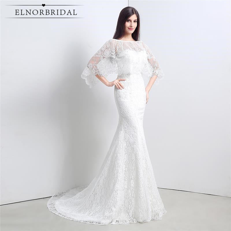Elegant Mermaid Lace Wedding Dresses 2017 Corset Back