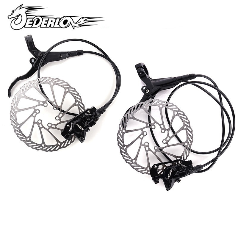 2018 MTB Mountain bike Hydraulic disk Brake Set Front & Rear brake handle brake Aluminum Alloy bicycle brake 2016 magura mt2 bike bicycle hydraulic disk brake set front