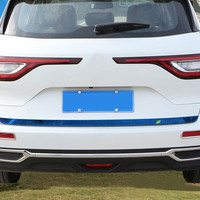 Jameo Auto Car Stainless Steel Rear Trunk Trim Tail Door Stickers For Renault Koleos For Samsung