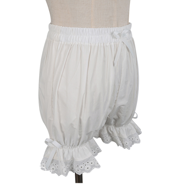 Sweet Cotton Lolita Shorts/Bloomers with Lace Trimming 1