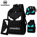 2017 Fashion Brand Women Male Anime Schoolbag For Teenage Girls Boy Popular Computer Laptop Backpack Female Men Luminous Bagpack