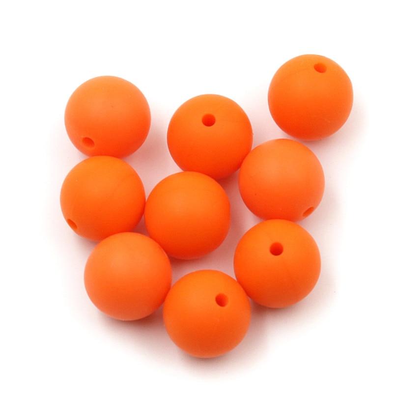 JOJOCHEW 100 sztuk 9mm-19mm Pomarańczowy Hot Nowe Silikonowe - Opieka nad dzieckiem - Zdjęcie 4