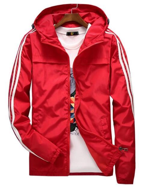 yizlo jacket windbreaker men women jaqueta masculina striped college jackets  2