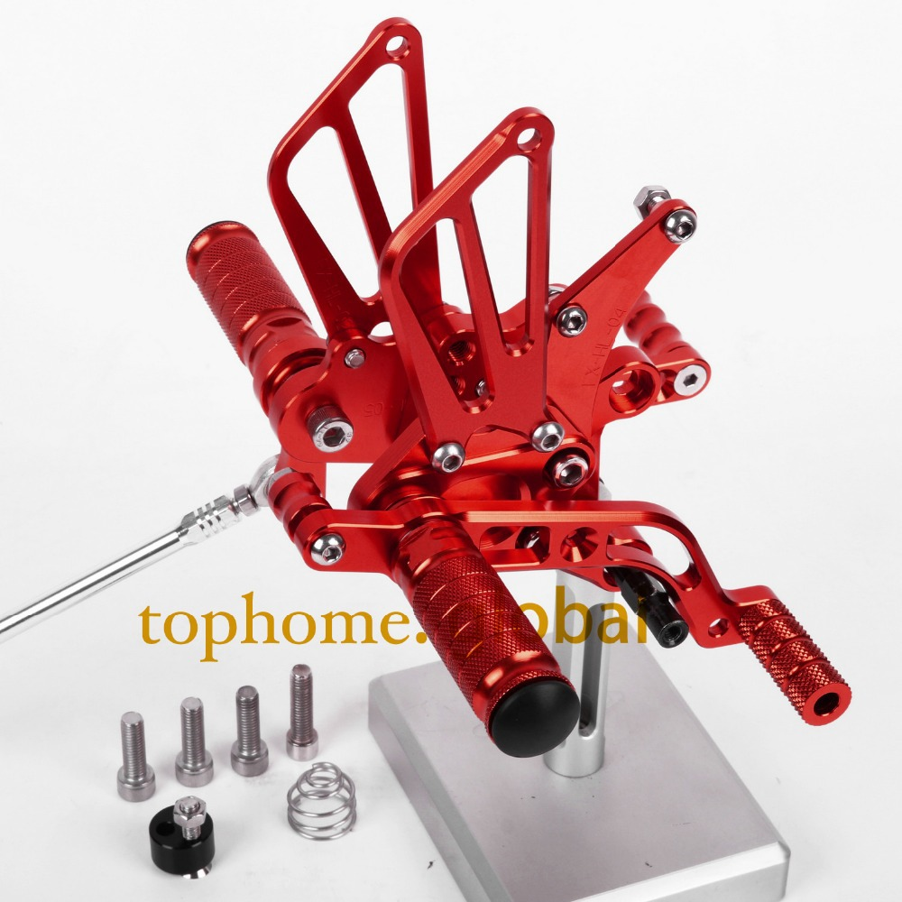 CNC Motorcycle Parts Rearsets Foot Pegs Rear Set For BENELLI BJ600GS 2010-2011 2012 2013 Red Color