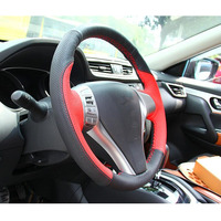Car styling For Nissan Qashqai J10 X TRAIL NV200 2008 2012 Car Steering Wheel Cover Leather Hand Sewing Auto Accessories