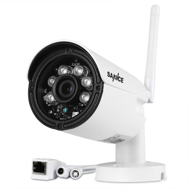 Sannce ip câmera de 720 p sem fio wifi cctv onvif hd visão nocturna do ir ao ar livre câmera de vigilância de segurança do sistema ios android app