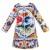 Vestido da menina de Inverno 2016 Da Marca Crianças Vestidos para Meninas Roupas de Manga Comprida Vestido de Princesa Crianças Majalica de Impressão Do Bebê Meninas Vestido