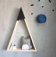 Simple Wall Decoration Shelf Storage Wood Frame Home Office Decoration Creative Craft Storage