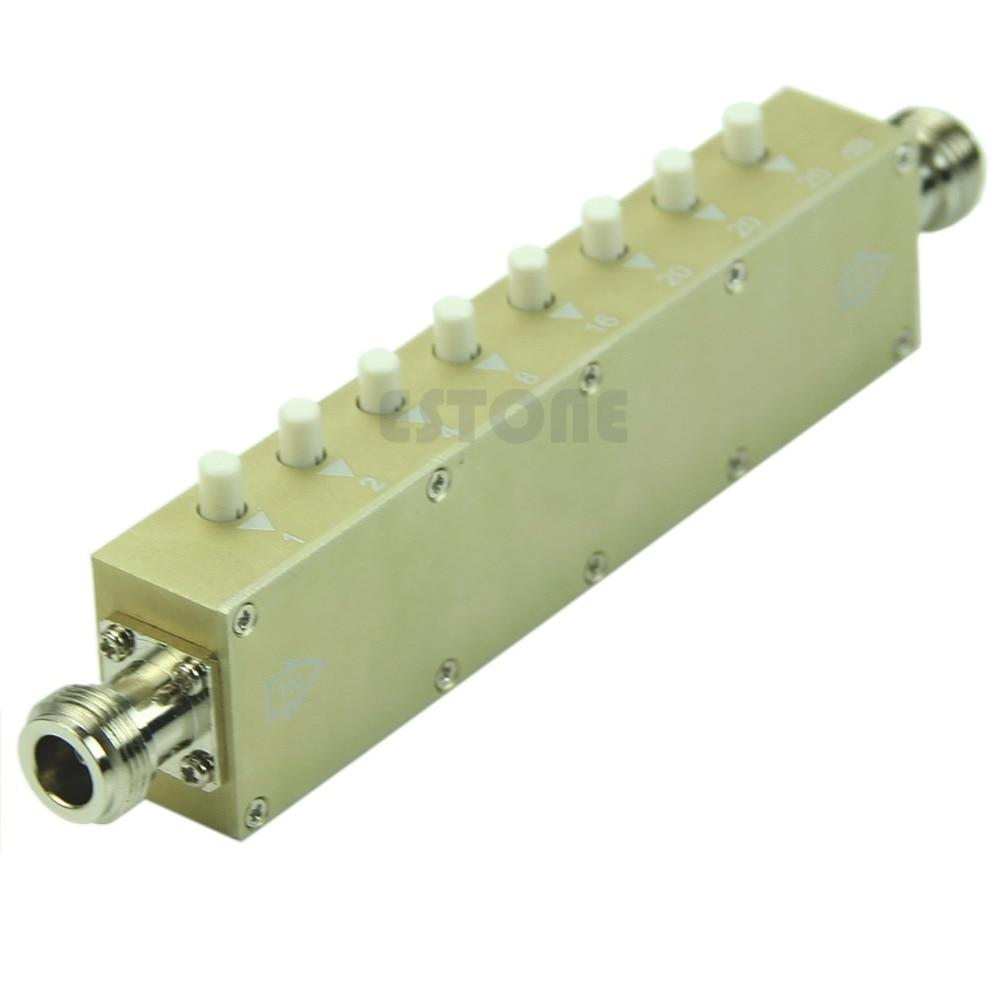 Adjustable Variable Attenuator N 5W 0-90dBi DC-2.5GHZ 50ohm RF Coaxial 8-key цена