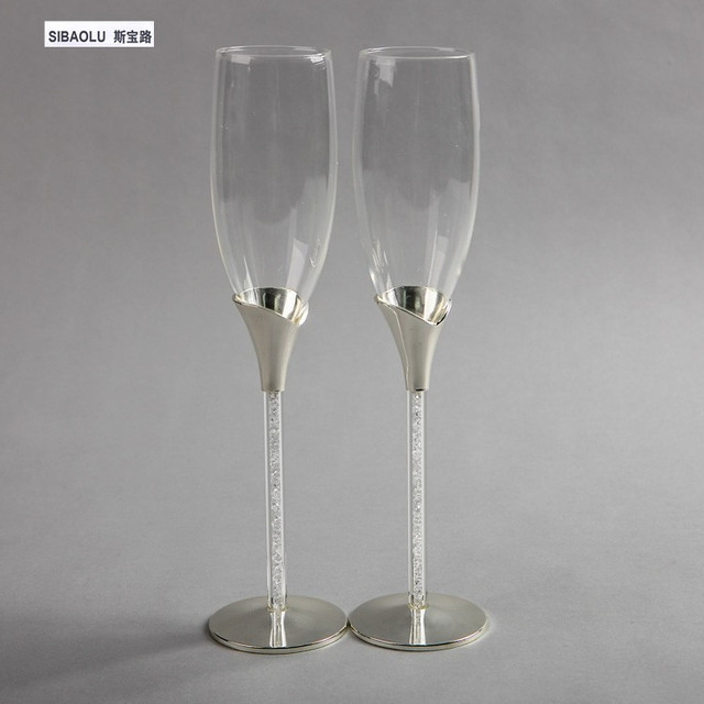 Wedding Champagne Gles Toasting Flutes Wine Sets Crystal Decorations