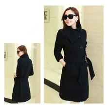 Plus size XL-9XL (bust 135 cm), Korean version of the slim lapel woolen cloth coat winter wool coat big yards women's clothing