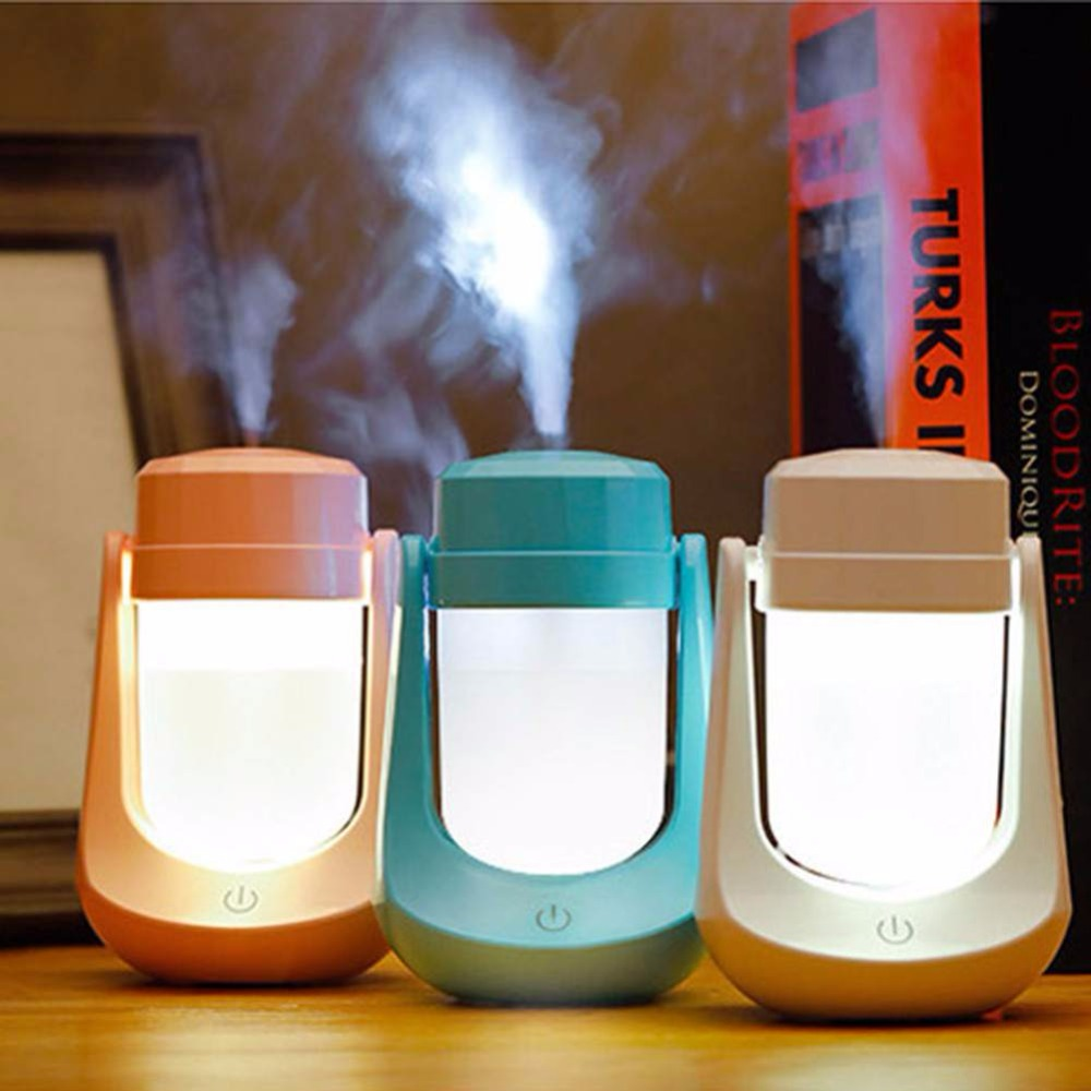 USB Oil Aroma Steam Air Humidifier Mini Air Colorful Night Light Portable Mist Maker 12V 180-Degree Humidifier