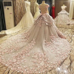 Image 3 - AIJINGYU レースウェディングドレスモロッコガウン韓国ロイヤルクイーン袖新しいインドのウェディングドレス