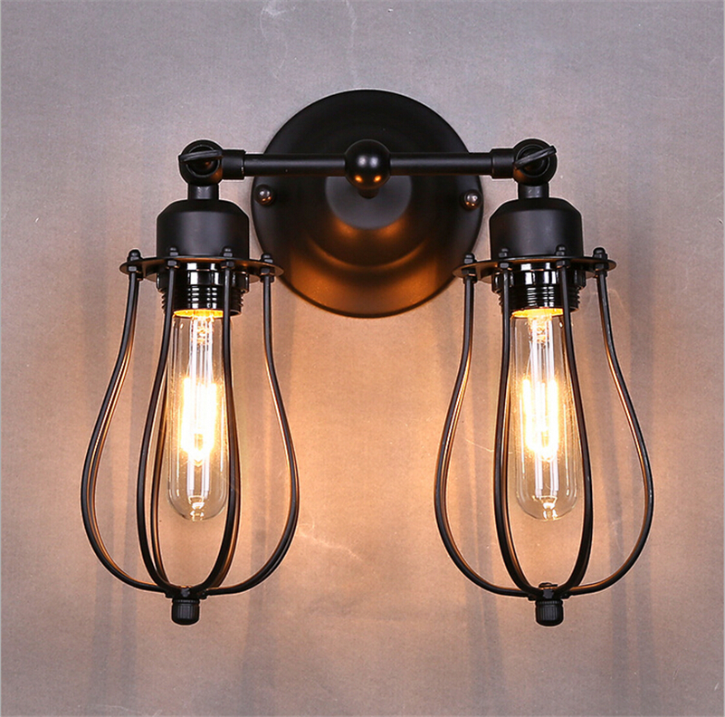2016 New Vintage E27 Wall Lamp Indoor Lighting Fixtures Black Metal LED Lamps Lights Luminaire for Bedside Home Corridor Aisle vintage wall lamp indoor lighting bedside lamps wall lights for home