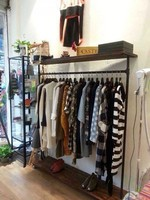 Винтажная одежда дисплей магазин одежды полка пол пальто стойки кованого железа, чтобы сделать старые трубы вешалки