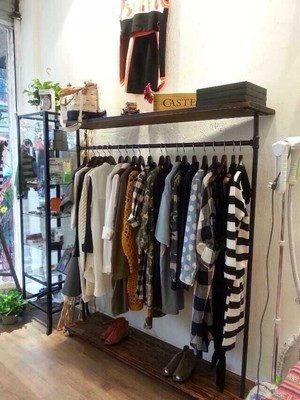 Vintage Clothing Display Clothing Store Shelf Floor Coat