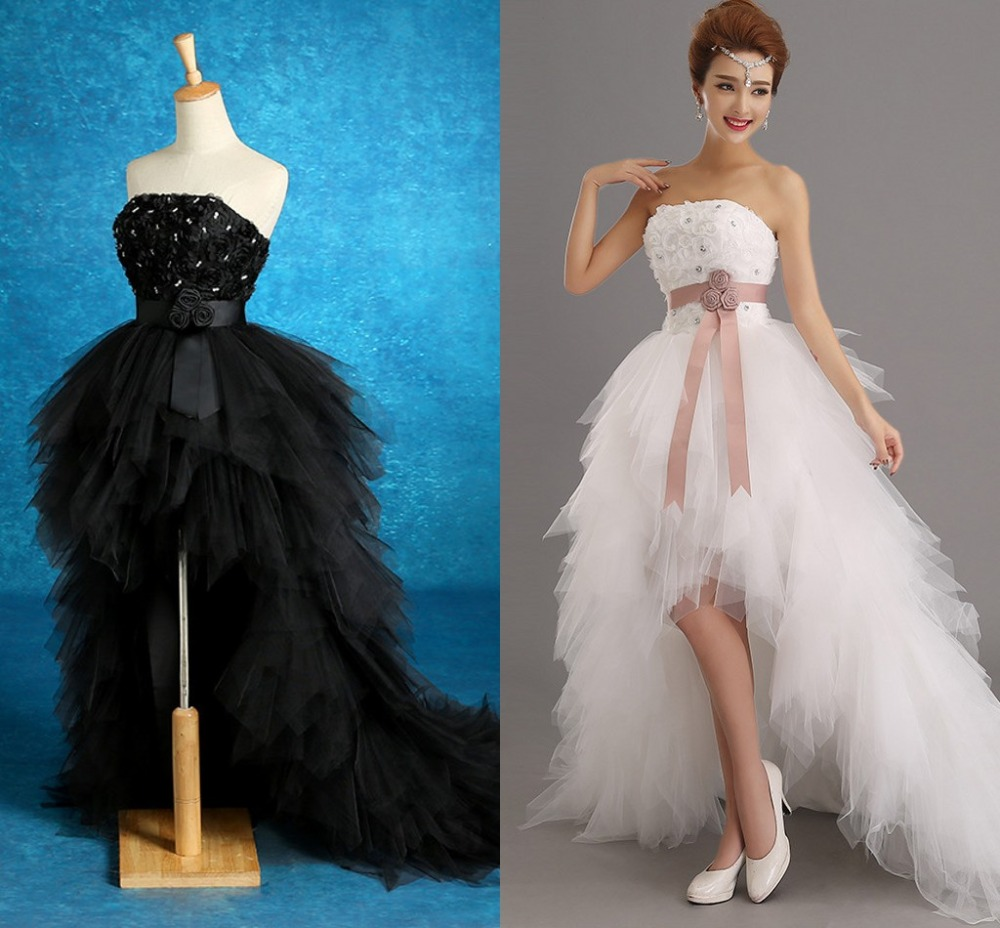 2016 Low price the bride royal princess wedding dress short train ...