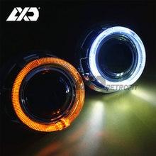 LXD LED Ange Yeux 3.0 pouce Bi-xenon HID Voiture Projecteur phare Lentille Automobiles DIY Métal Xénon Objectif Rénovation W/WO Tour Signal