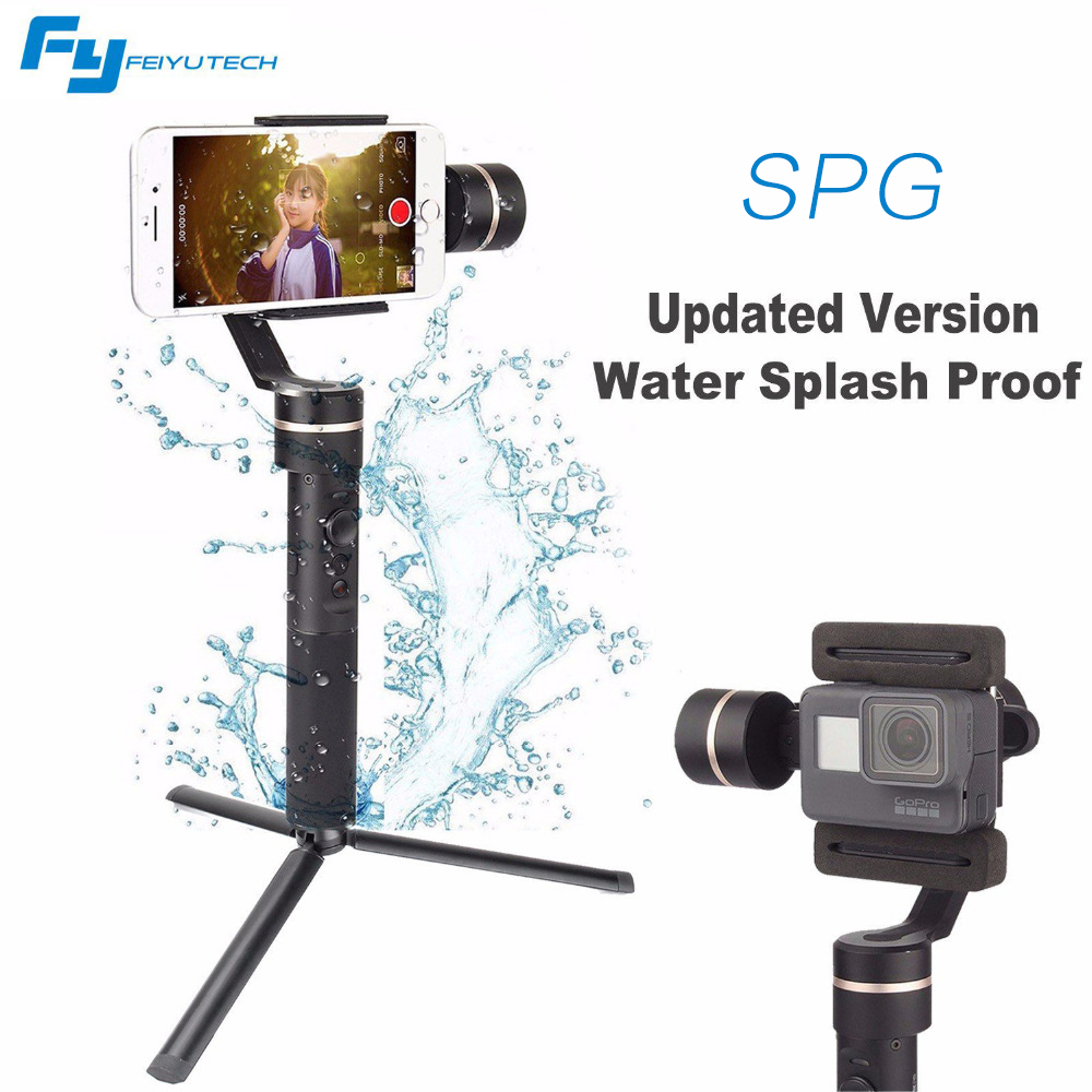 Feiyu Phone Gimbal Tripod SPG Upgraded version Splash-Proof Design 3 Axis Handheld Stabilizer for iPhone Huawei for Action cam feiyu tech g5 3 axis handheld gimbal action camera stabilizer splash proof design for hero5 hero4 hero3