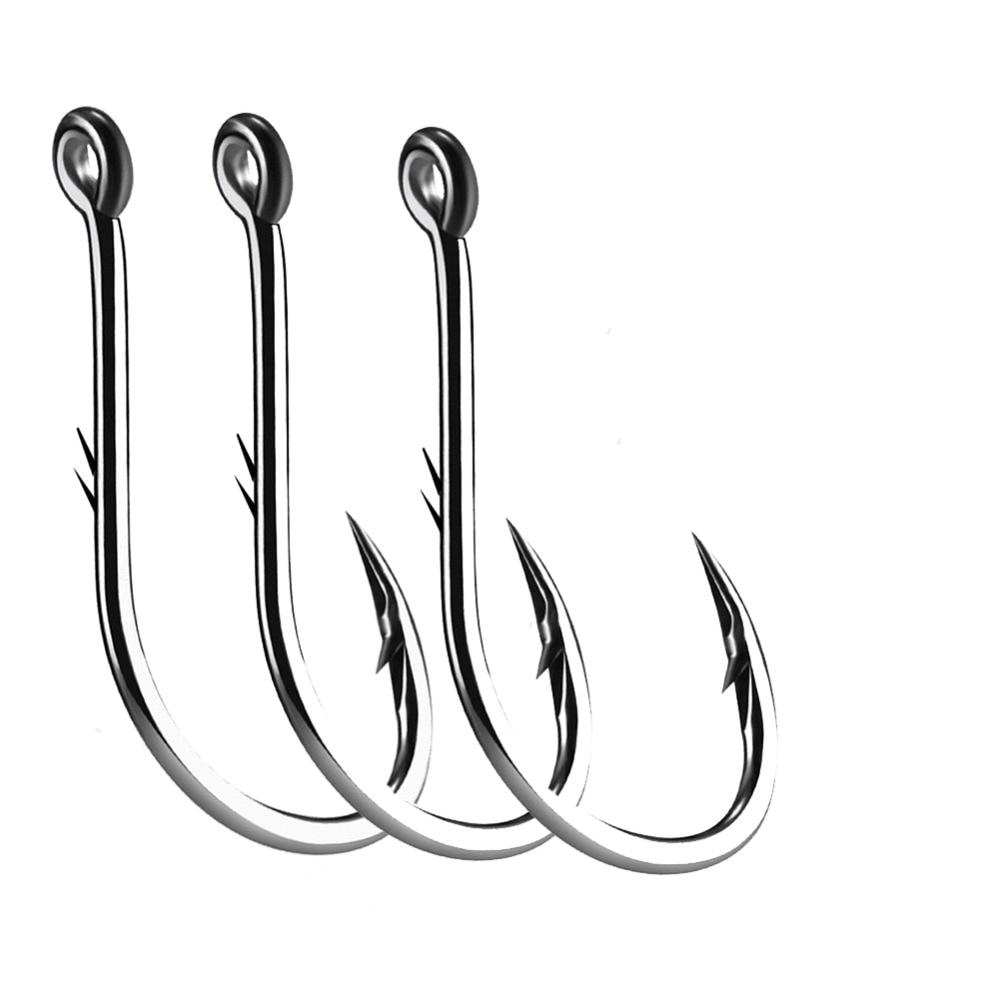 50pcs Iseama Circle Carp Eyed Fishing Hook Size 12 9 6 4 1 1/0 2/0 3/0 4/0 5/0 Ring Eye Japan Fishhook