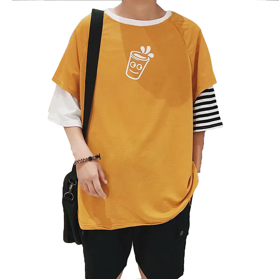 Oversized Hip Hop Harajuku Bf Tshirt Men Loose Funny Ulzzang