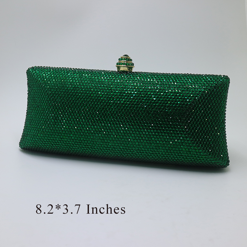 Royal Nightingales Green Clutch Purse Evening Bags For Women Rhinestone Wedding Party Bridal Handbags Prom