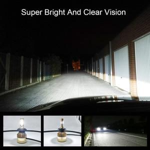 Image 1 - COOLFOX Auto Lichter LED H4 9003 9005 9006 H1 H3 H8 H11 H7 Led Canbus Fehler Freies Lampe Auto Scheinwerfer birne 20000lm 200W Weiß Licht