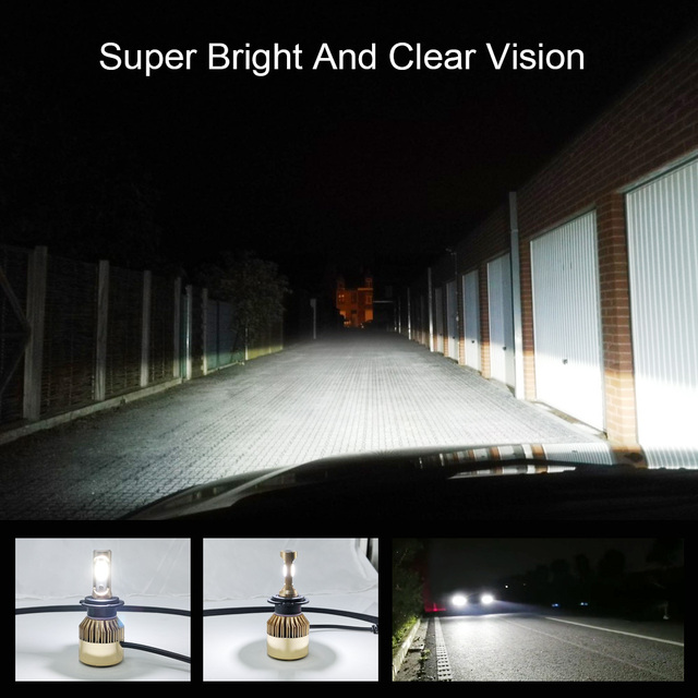 COOLFOX Auto Lichter LED H4 9003 9005 9006 H1 H3 H8 H11 H7 Led Canbus Fehler Freies Lampe Auto Scheinwerfer birne 20000lm 200W Weiß Licht